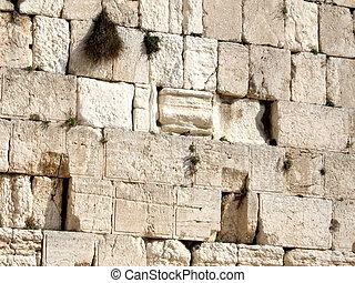 Jerusalem stones of Western Wall 2008