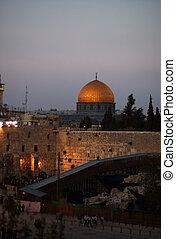 Jerusalem temple mount panorama
