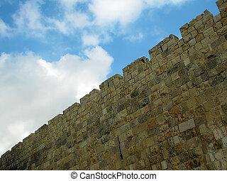 Jerusalem, the old city walls
