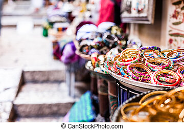 jerusalem, traditionell, gata,  Israel, marknaden
