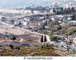 Jerusalem view of Old City from Mount Scopus 2010