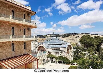 Jerusalem view of the Mount of Olives
