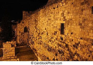 Jerusalem. Wall of the old city