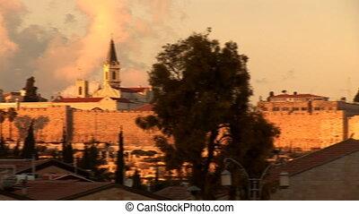 Jerusalem wall surround old city