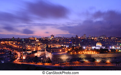 Jeruslaem - Skyline of the old city of Jerusalem, Israel.