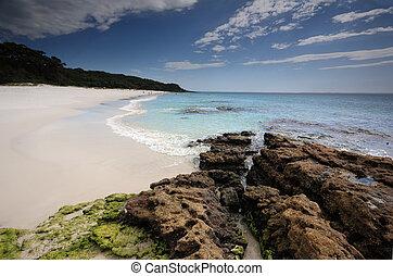 jervis, australie, baie