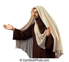 jesús, brazos abiertos, cristo