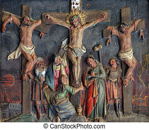 jesús, dies, en, el, cruz