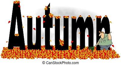 jesień, amfiladowe listowie, słowo, człowiek