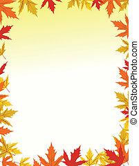 jesień, brzeg, projektować