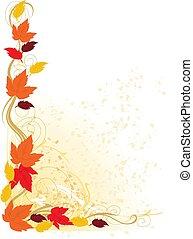 jesień, brzeg