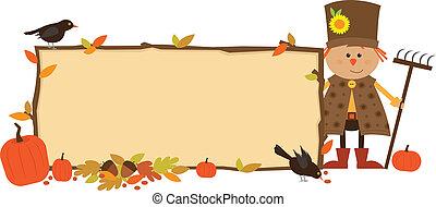 jesień, chorągiew