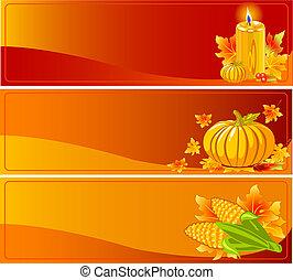 jesień, chorągwie