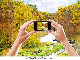 jesień, fotografowanie, krajobraz