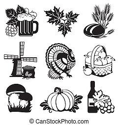jesień, ikony