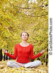 jesień, medytacja