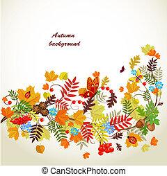 jesień, modelujcie zamiar, liść, twój