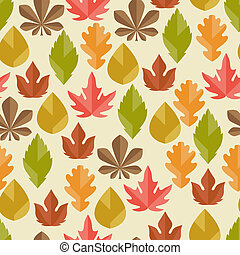 jesień, próbka, seamless, leaves.