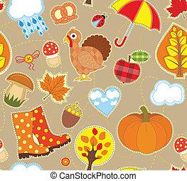 jesień, seamless, tło