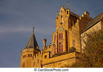 jesień, swabian, niemcy, podczas, hohenzollern, zamek