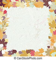 jesień, tło., grunge, eps, 8