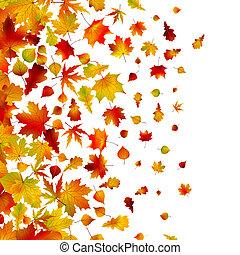 jesień, tło., liście, eps, 8