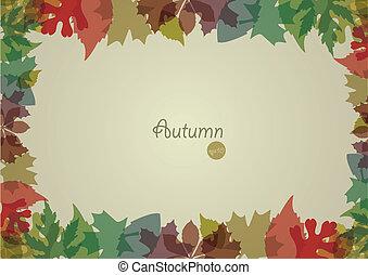jesień, tło., wektor