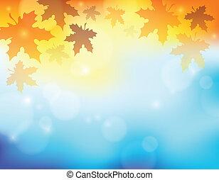 jesień, temat, 2, tło