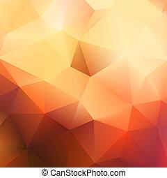 jesień, triangle., eps10, modeluje, plus, geometryczny