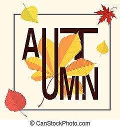 jesień, ułożyć, słowo