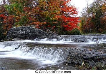 jesień, wodospady