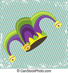 jester design over lineal background vector illustration