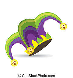 Illustration of a jester hat. April Fools Day. vector illustration