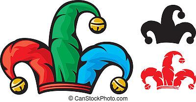 jester hat (jester cap, cap of a joker, fool cap)