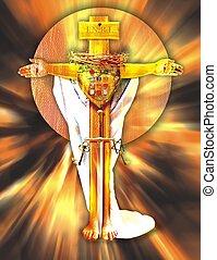 jesucristo, como, el, alto, sacerdote