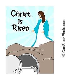 jesucristo, es, levantado