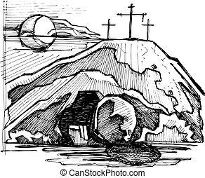 jesucristo, vacío, tumba