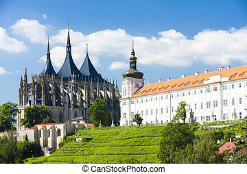 jesuita, hora, kutna, checo, s., república, catedral,...