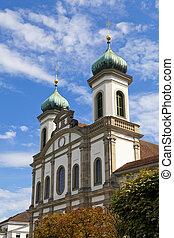 Jesuitenkirche (Jesuit Church) in Luzern, Switzerland -...