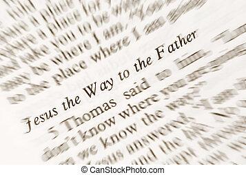 jesus, a, maneira, para, a, fahter