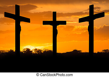 Jesus and crosses