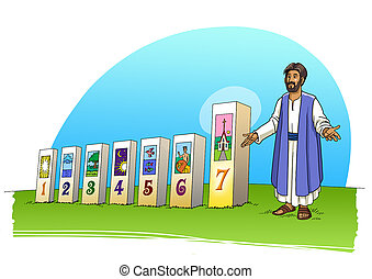 Jesus Christ and the seven days of creation