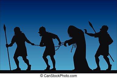 Jesus' arrest - Jesus was captured by soldiers in the Garden...