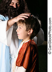Jesus Blesses Children - And they brought young children to...