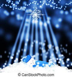Jesus born in manger