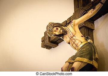 Jesus Christ at the Cross crucifix figure