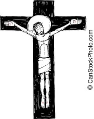 Jesus Christ at the Cross illustration