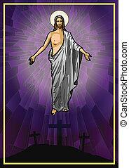 Jesus Christ - Vector illustration of the Resurrected Jesus...
