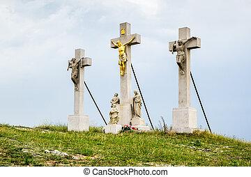 Jesus Christ Cross on Calvary, Nitra, Slovakia