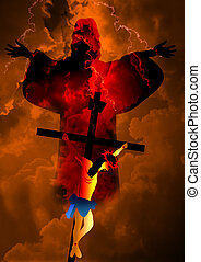Jesus Christ crucifixion and resur